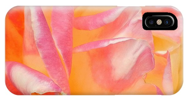 Peachy Pink Rose Phone Case by Virginia Forbes