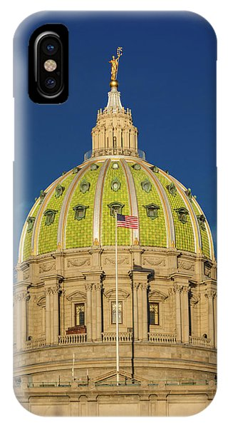 Capitol Building iPhone Case - Pennsylvania State Capitol, Harrisburg by Panoramic Images