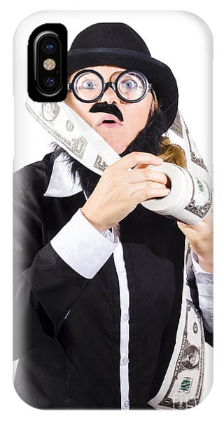 Finance iPhone Case - Person With Roll Of Money by Jorgo Photography - Wall Art Gallery