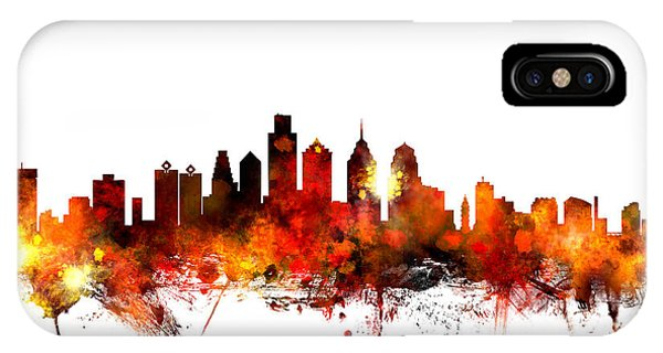 United States iPhone Case - Philadelphia Pennsylvania Skyline by Michael Tompsett