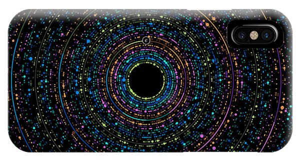 Pi Phi And E Transition Bubble Heaps Phone Case by Martin Krzywinski