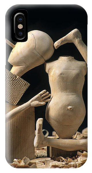 Craftsman iPhone Case - Pieces Of Wood Puppet by Bernard Jaubert