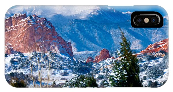 Pikes Peak In Winter IPhone Case