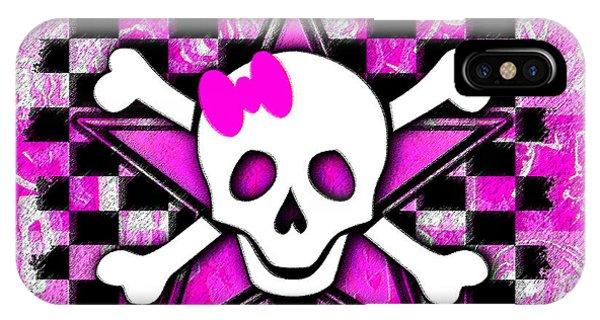 Pink Star Skull IPhone Case