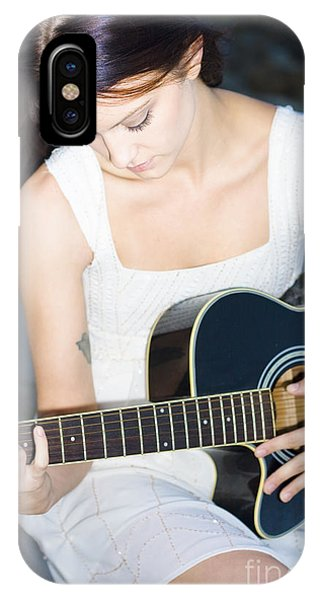Strum iPhone Case - Playing Guitar by Jorgo Photography - Wall Art Gallery
