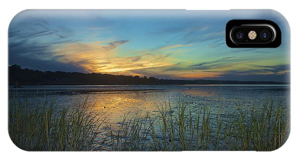 Plymouth Harbor Sunset IPhone Case