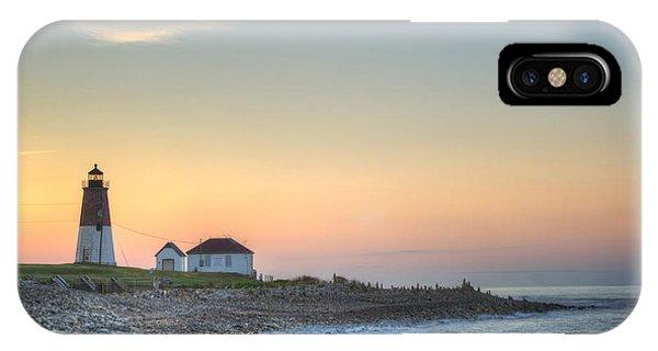 New England Coast iPhone Case - Point Judith Lighthouse by Juli Scalzi