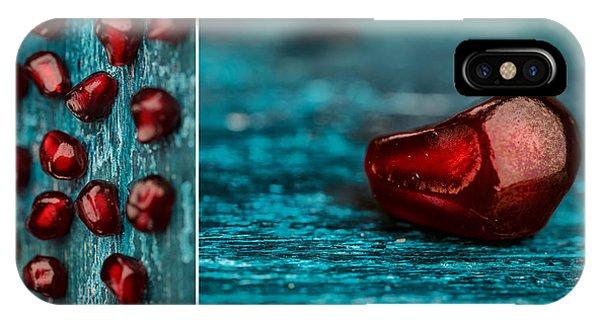 Fresh iPhone Case - Pomegranate Collage by Nailia Schwarz