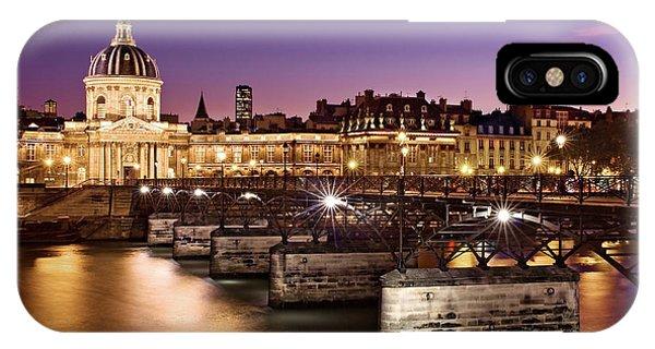 Pont Des Arts And Institut De France / Paris IPhone Case