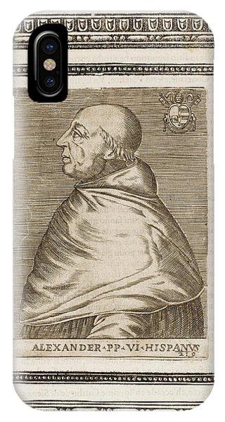 Pope Alexander Vi (roderigo Borgia) Phone Case by Mary Evans Picture Library