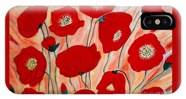 Poppies. Inspirations Collection. IPhone Case