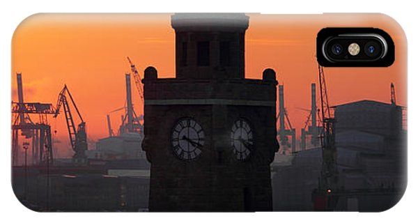 Port Of Hamburg Sunset IPhone Case
