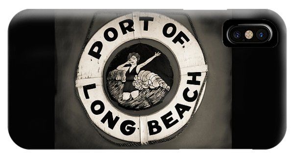 Port Of Long Beach Life Saver Vin By Denise Dube IPhone Case