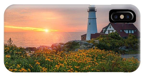 Portland Head Light Sunrise  IPhone Case