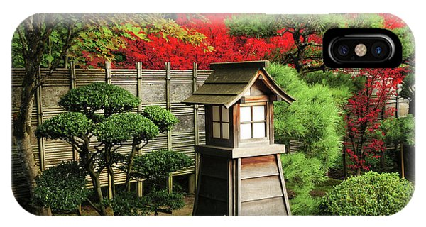Portland Japanese Garden In Autumn IPhone Case