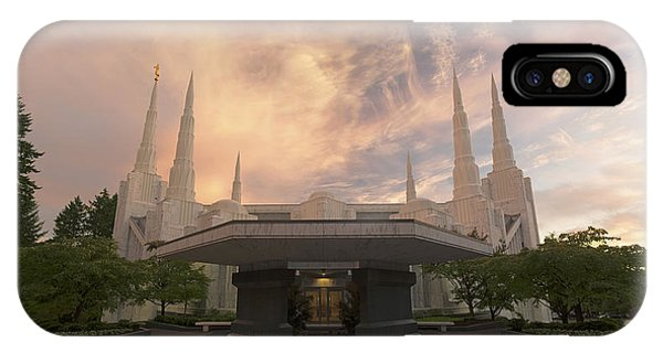 Portland Temple IPhone Case