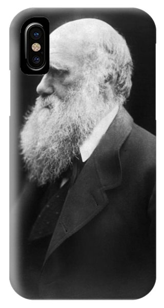 Head And Shoulders iPhone Case - Portrait Of Charles Darwin by Julia Margaret Cameron