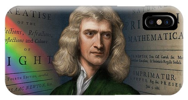 Calculus iPhone Case - Portrait Of Isaac Newton by David Parker