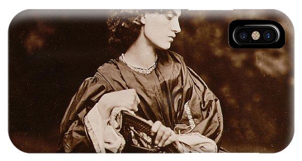 Deep Thought iPhone Case - Portrait Of Jane Morris by John Parsons