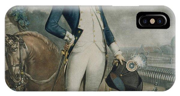 Slaves iPhone Case - Portrait Of The Marquis De La Fayette by Philibert-Louis Debucourt