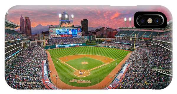 Progressive Field Sunset IPhone Case