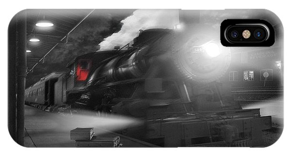 Passenger Train iPhone Case - Pulling Out by Mike McGlothlen