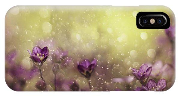 Violet iPhone Case - Purple Dream by Delphine Devos