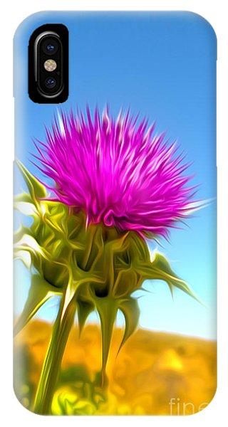 Purple Flower IPhone Case