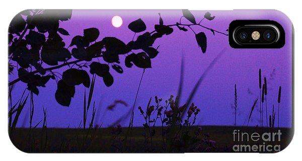 Purple Moon IPhone Case