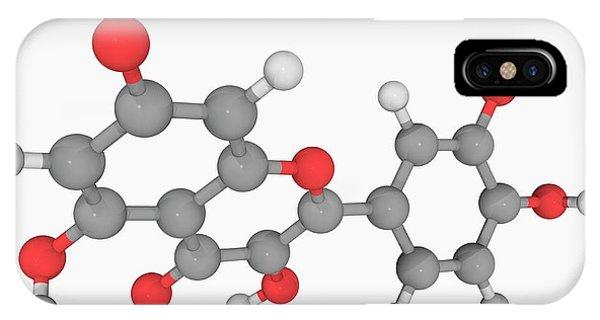 Quercetin Molecule Phone Case by Laguna Design/science Photo Library