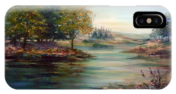 Quiet Day On The Lake IPhone Case