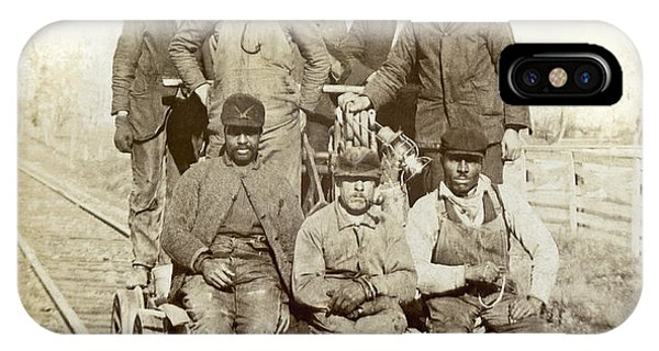 1895 iPhone Case - Railroad Workers by Underwood Archives