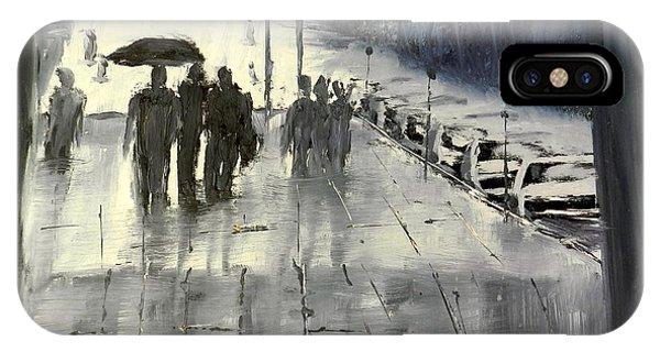 Rainy City Street IPhone Case