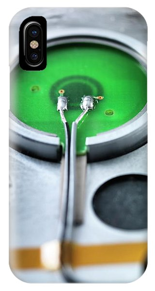 Rear Of A Power Button Phone Case by Tek Image