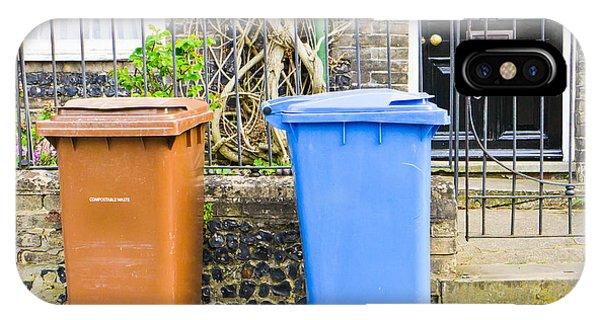 Rubbish Bin iPhone Case - Recycling Bins by Tom Gowanlock