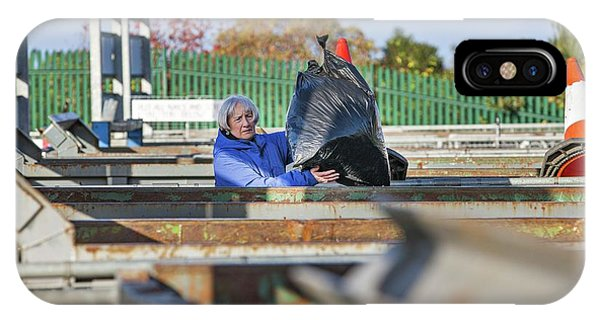 Rubbish Bin iPhone Case - Recycling Centre by Lewis Houghton/science Photo Library
