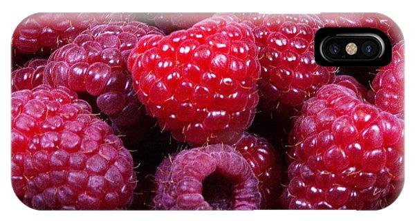 Red Raspberries IPhone Case