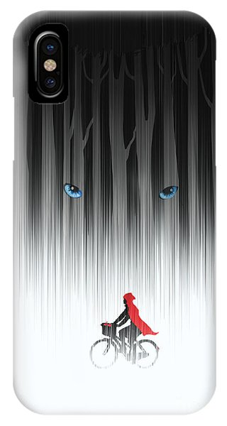 Fairy iPhone Case - Red Riding Hood by Sassan Filsoof