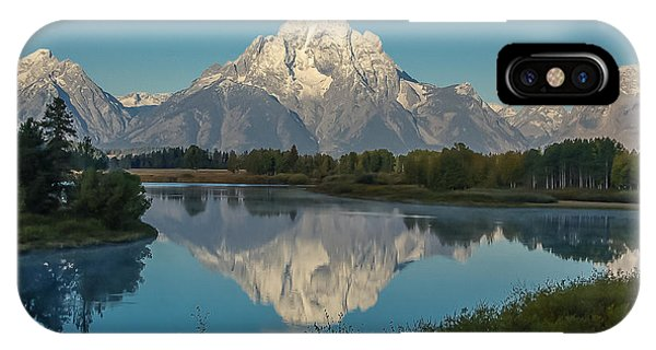Reflections Of Mount Moran IPhone Case