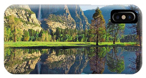 Reflections Of Yosemite Falls IPhone Case