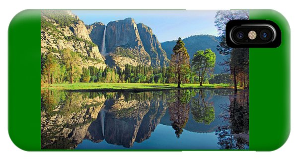 Reflections Of Yosemite Falls IPhone Case