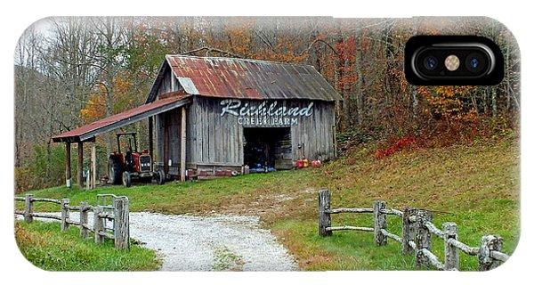 Richland Creek Farm Barn IPhone Case