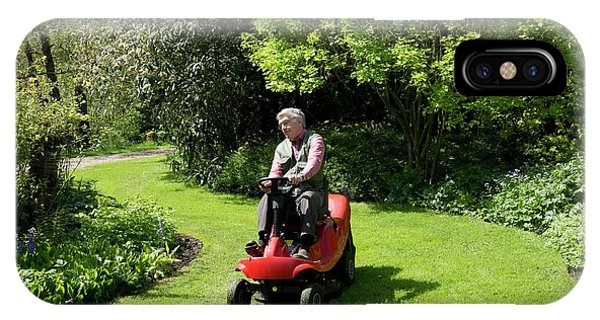 Ride-on Lawn Mower Phone Case by Sheila Terry