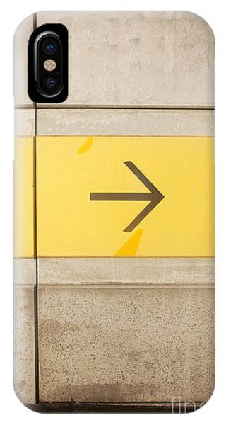 Cement iPhone Case - Right Direction Wall by Jorgo Photography - Wall Art Gallery