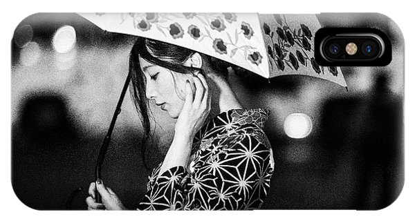 Umbrella iPhone Case - Risa by Daisuke Kiyota
