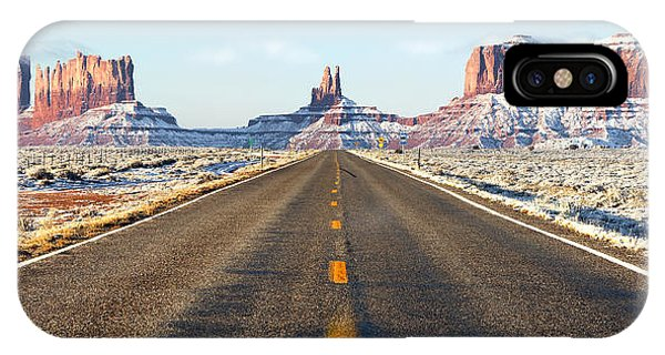 Road Lead Into Monument Valley Phone Case by King Wu