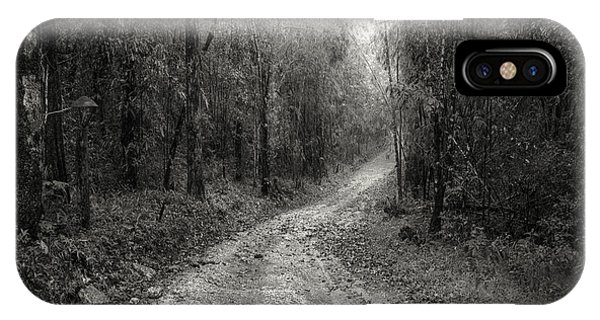 Peaceful iPhone Case - Road Way In Deep Forest by Setsiri Silapasuwanchai