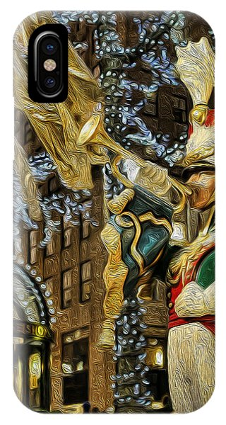 Rockefeller Center Bugle Boy Phone Case by Lee Dos Santos