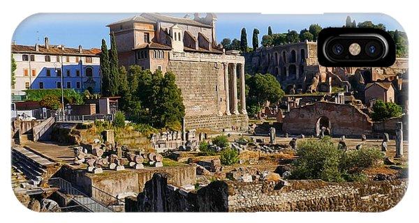 Roman Ruins 3 IPhone Case
