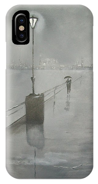 Romantic Walk In The Rain IPhone Case